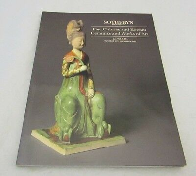 Sotheby's Fine Chinese And Korean Ceramics Works of Art London 8th December 1992
