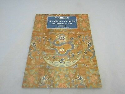 Sotheby's Fine Chinese Ceramics and Works of Art London 11th June 1991 Catalogue