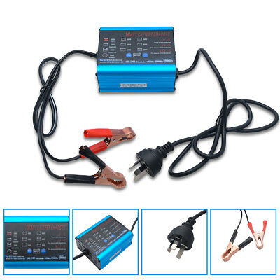Smart Trickle Battery Charger Car Boat Caravan Motorcycle LED Display 12V 6V 10A