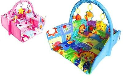 Extra Large 3 in 1 Foldable Baby Playmats Play Mat Gym Activity Nest W Bumpers