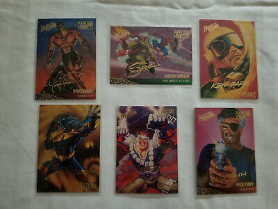 1995 Fleer Ultra Marvel Spiderman Gold Foil Signature Series Lot of 6 Cards