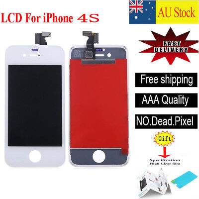 For iPhone 4S Screen Replacement LCD Front Panel Digitizer Assembly white
