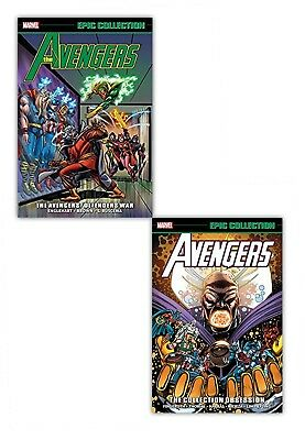 Marvel Avengers Epic Collection 2 Books Set Pack Defenders War, Obsession