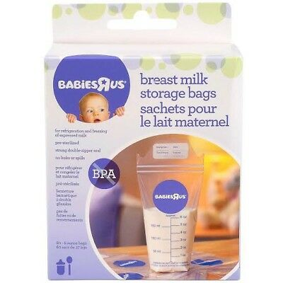 Babies R US Breast Milk Storage Bags 20 Pack BREASTFEEDING breastmilk AU SELLER