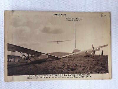 CPA Aviation Auvergne Vol a Voile   Postcard