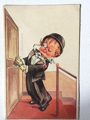 CPA - Illustration Jeune gentleman  Postcard