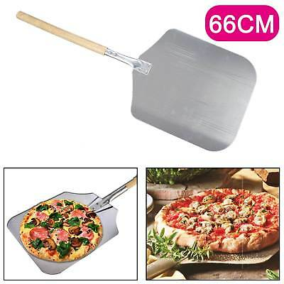 "26""Pizza Peel Shovel Paddle Pancake Oven Baking Tools Wood Handle Aluminum UK"