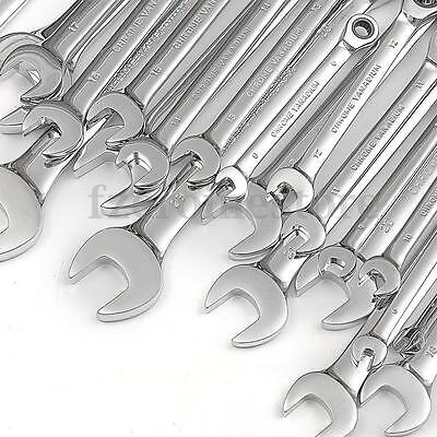 6-32mm Fixed Head Ratchet Metric Ratchet Combination Spanner Wrench Open End