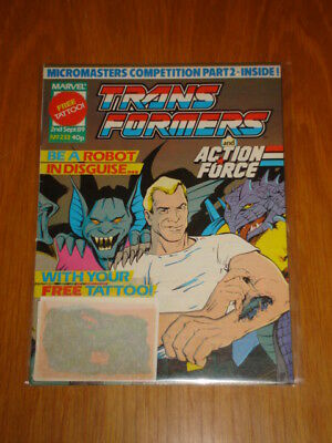 Transformers British Weekly #233 Marvel 1989 With Free Gift
