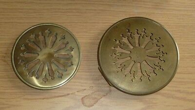 2 Antique French Clock Pierced Brass Back Doors