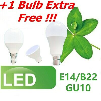 4 6 10x LED Bulbs 7W SES E14 E27 B22 BC ES Golf Ball Globe Lamp Light Cool White