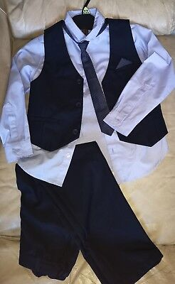 Boys 4 Piece Navy Suit Age 14