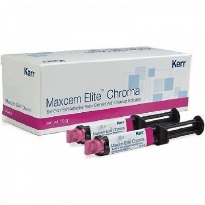 Kerr Maxcem Elite Chroma Self-Etch, Self-Adhesive Resin Cement free shipping