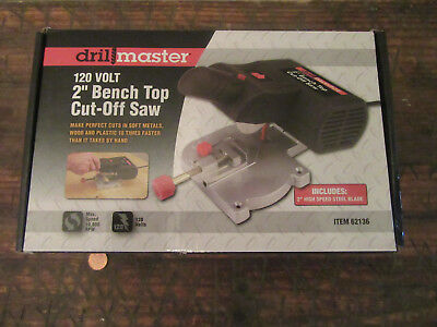 Drill Master 2 in Mini Bench Top Cut-Off Saw 10600 RPM max for high-speed