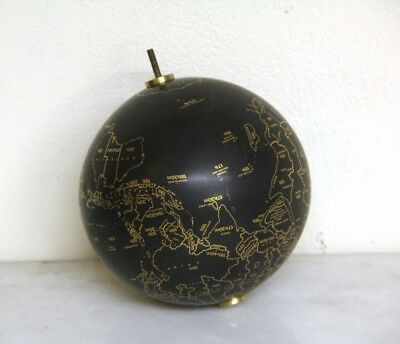 Stunning Porcelain Clock World Globe