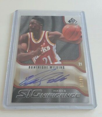 "DOMINIQUE WILKINS / UD ""Game-Used"" / SIGNIFICANCE - Auto #d/10 (Hawks) HOF"