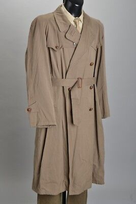 Gentleman's Really Good Probably 1930s' Gaberdine Rainproof Trench Coat. INXJ