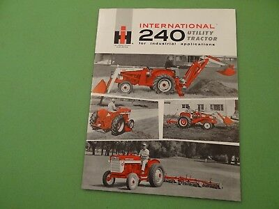 International Harvester 240 Utility Industrial Tractor Brochure