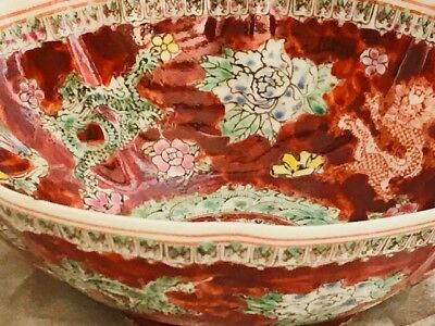 Small Decorative Thin Fine Porcelain Qing Dynasty Style Oriental Ripple Bowl