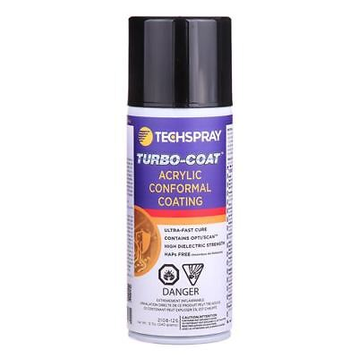 New (1) 12 oz Can of TechSpray Turbo-Coat Acrylic Conformal Coating 2108-12S