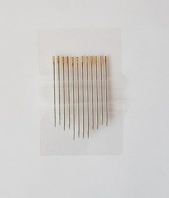 12pc Self Threading Hand Sewing NEEDLES Assorted Sizes