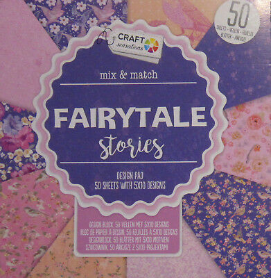 Block Mix & Match Fairytale Stories - 50 Blätter/5 X 10 Designs - 15X15Cm - Neu!