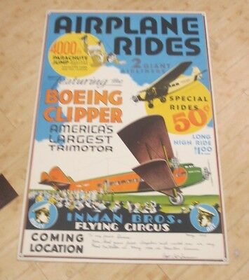 Vintage Boeing Clipper Airplane Ride Advertising Poster (1004476874)