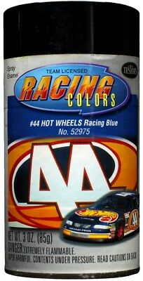 Testors Racing Colors Spray Enamel #44 Hot Wheels Racing Blue 3oz 85g #52975