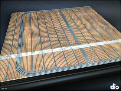 Built & Painted Diorama Base (30cm square), 1:48 US Navy Aircraft Carrier Deck