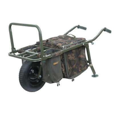 FOX FX Explorer Barrow and Camo Lite Bag inc 2 straps & mesh bags TACKLE-DEALS !