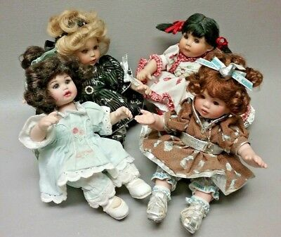 Lot of 4 Marie Osmond doll tiny tots Hershey Kiss Susie Brianna plus 1