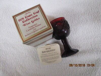 Vintage Avon Wine Goblet Cape Code Collection 1876 Baybery Nib 4 1/2 Inches Tall