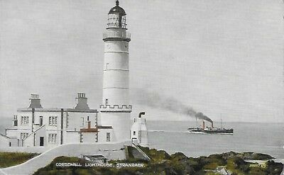 Stranraer Corsewall Lighthouse Valentines Colourtone postcard