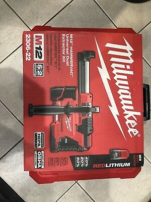 Milwaukee 2306-22 M12 12V M12 Hammervac Universal Dust Extractor w/ Batteries