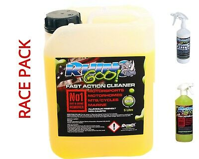 Rhino Goo Race Pack 5L  Cleaner + 1L + 1Ltr Rhino Shine Motox Mx  Bike Cleaner