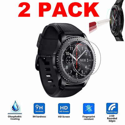 2X Tempered Glass Screen Protection Protector Rugged For Samsung Gear S3 Android