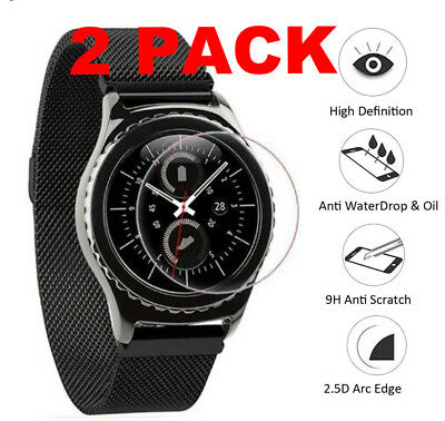 2 X Tempered Glass Screen Protection Protector Rugged For Samsung Gear S2 Galaxy