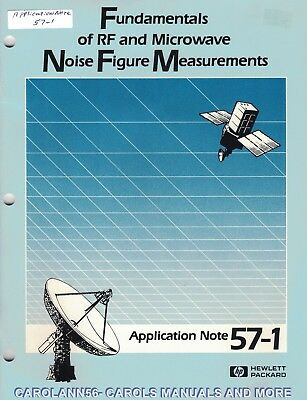 HP Application Note 57-1 FUNDAMENTALS OF RF MICROWAVE NOISE FIGURE MEASUREMENTS