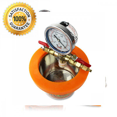 BACOENG Small Mini 1.2 L Vacuum Chamber Stainless Steel Degassing Urethanes...