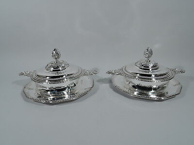 Belle Epoque Serving Dishes - Antique Pair - French 950 Silver - Risler & Carre