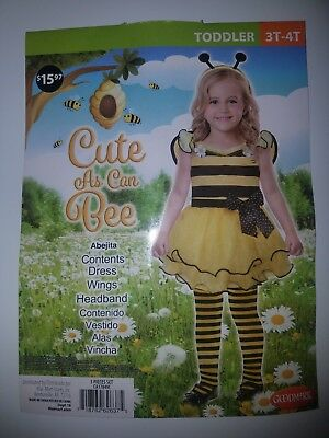 Halloween Costume Cute As Can Bee Toddler (3T-4T) Bumble Bumblebee Outfit