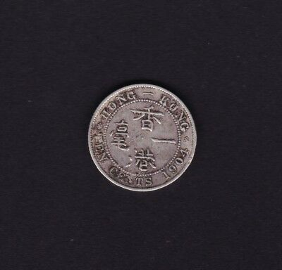 1904 Hong Kong 10 Cent Silver Coin