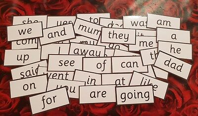 Reception Class Words -  Flash Cards  - Home/Class -Read/Write/Spell-School