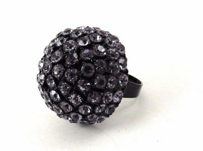 Vintage Couture Rhinestone Cocktail Ring Big Bold Statement
