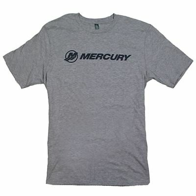 Mercury Marine Soft Blend Logo T-Shirt - Light Heather Gray