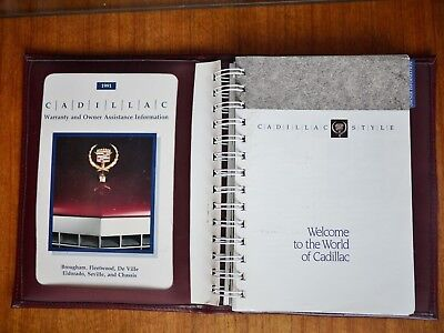 1991 Cadillac Fleetwood Owner's User Guide Operator Manual Vintage car photos