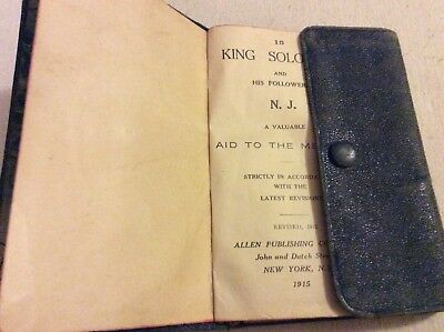 Freemasons Masonic Code Book, Copyright 1915, King Solomon, Nj, Snap Closure