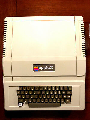 Vintage Apple II Computer with Language Card Fully Functional