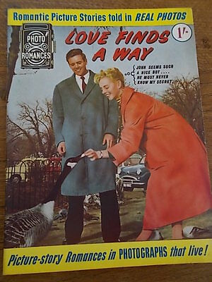 1960s Magazine Photo romances LOVE FINDS A WAY Picture Story told in Real Photos