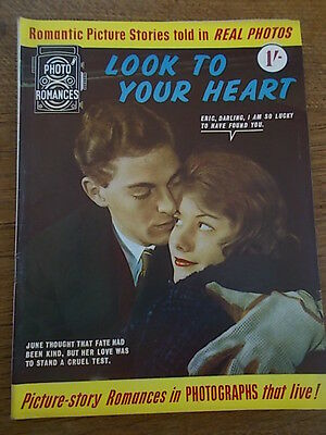 1960s Magazine Photo romances LOOK TO YOUR HEART Picture Story in Real Photos